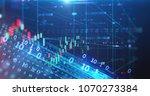 financial stock market graph... | Shutterstock . vector #1070273384