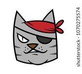 cartoon pirate cat | Shutterstock .eps vector #1070275574