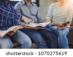 close up of christian group are ... | Shutterstock . vector #1070275619