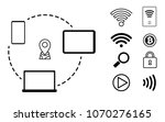 payment  wifi  search  music... | Shutterstock .eps vector #1070276165