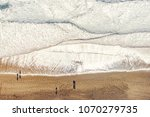aerial view of ocean beach with ... | Shutterstock . vector #1070279735