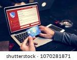 firewall popup for security... | Shutterstock . vector #1070281871
