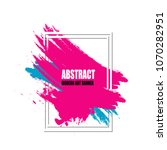 abstract colorful modern art... | Shutterstock .eps vector #1070282951