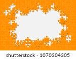 orange background puzzle....   Shutterstock .eps vector #1070304305