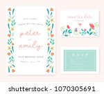 wedding invitation card with... | Shutterstock .eps vector #1070305691