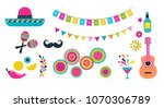 mexican fiesta  cinco de mayo ... | Shutterstock .eps vector #1070306789