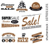 set of sale icon symbol and... | Shutterstock . vector #1070311151