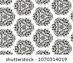 ornament with elements of black ... | Shutterstock . vector #1070314019
