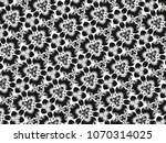 ornament with elements of black ... | Shutterstock . vector #1070314025
