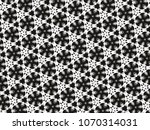 ornament with elements of black ... | Shutterstock . vector #1070314031