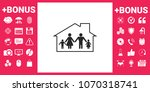 family home icon | Shutterstock .eps vector #1070318741