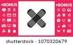 cross adhesive bandage  medical ... | Shutterstock .eps vector #1070320679