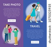 travelling people vertical... | Shutterstock .eps vector #1070325935