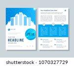 annual report  broshure  flyer  ... | Shutterstock .eps vector #1070327729