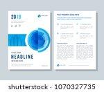 annual report  broshure  flyer  ... | Shutterstock .eps vector #1070327735