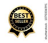 ribbon award best seller. gold... | Shutterstock .eps vector #1070336591
