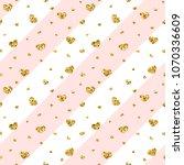 gold heart seamless pattern.... | Shutterstock .eps vector #1070336609