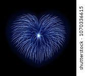 beautiful heart firework.... | Shutterstock .eps vector #1070336615