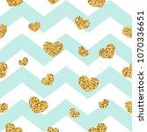 gold heart seamless pattern.... | Shutterstock .eps vector #1070336651