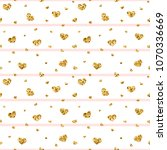 gold heart seamless pattern.... | Shutterstock .eps vector #1070336669