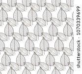 vector seamless pattern of leaf ... | Shutterstock .eps vector #1070339699