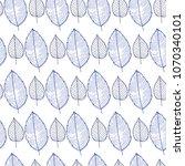 vector seamless pattern of leaf ... | Shutterstock .eps vector #1070340101