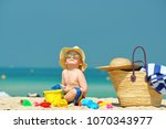 two year old toddler boy... | Shutterstock . vector #1070343977