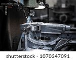 close up cnc milling machine... | Shutterstock . vector #1070347091