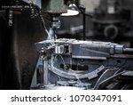 close up cnc milling machine... | Shutterstock . vector #1070347091