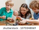 simple robotics project for... | Shutterstock . vector #1070348069