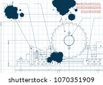 mechanical engineering drawings.... | Shutterstock .eps vector #1070351909