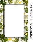 leaves tropical palm leaves... | Shutterstock .eps vector #1070352161