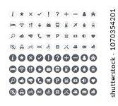 map symbols set  map location... | Shutterstock . vector #1070354201