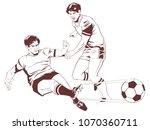 stock illustration. soccer... | Shutterstock .eps vector #1070360711