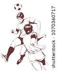 stock illustration. soccer... | Shutterstock .eps vector #1070360717