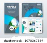 tri fold brochure design with... | Shutterstock .eps vector #1070367569