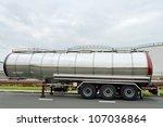 Semi Truck. Fuel Tanker.