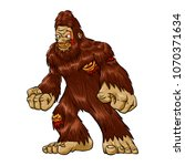 Stock photo zombie bigfoot illustration 1070371634