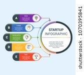 startup infographics. modern... | Shutterstock .eps vector #1070395841