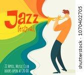 vector jazz festival poster...   Shutterstock .eps vector #1070402705