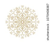 circular pattern. mandala.... | Shutterstock .eps vector #1070408387