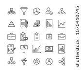 modern outline style freelance... | Shutterstock .eps vector #1070410745