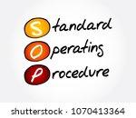 sop   standard operating... | Shutterstock .eps vector #1070413364