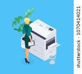 isometric office life concept.... | Shutterstock .eps vector #1070414021