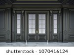 Black Wall Panels In Classical...