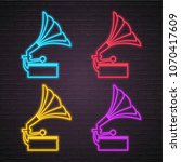 gramophone icon different... | Shutterstock .eps vector #1070417609