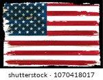 usa flag.vintage american flag... | Shutterstock .eps vector #1070418017