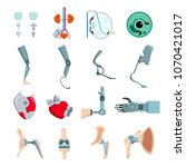 orthopedic prothesis medical... | Shutterstock .eps vector #1070421017