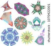 set of guilloche elements ...   Shutterstock .eps vector #1070422001