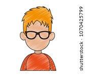 young man faceless cartoon... | Shutterstock .eps vector #1070425799